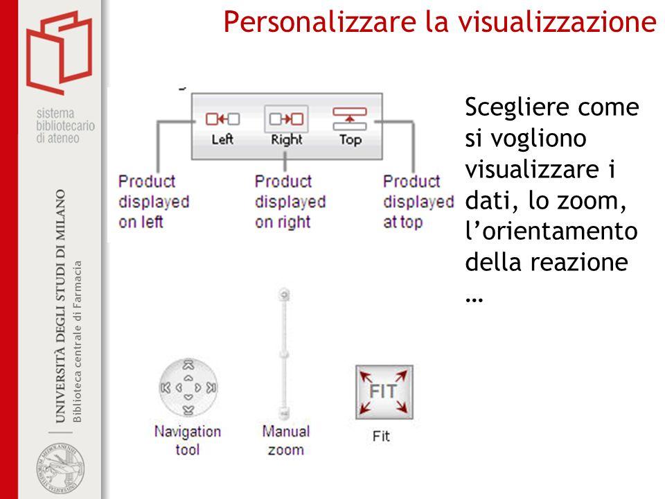 Personalizzare la visualizzazione