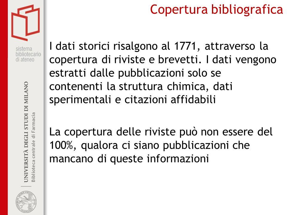 Copertura bibliografica