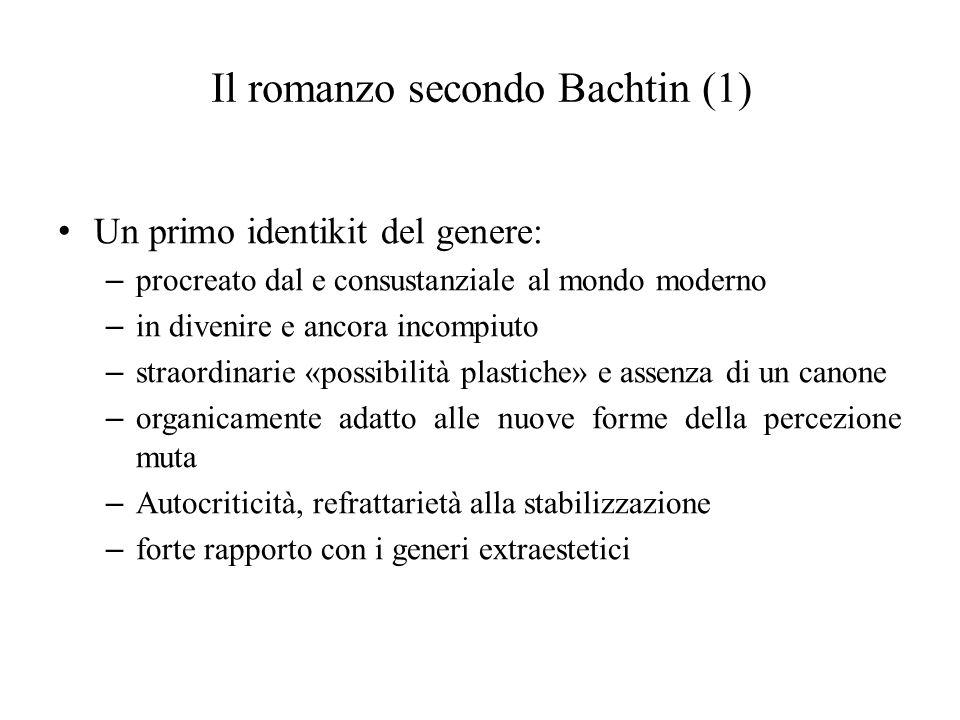 Il romanzo secondo Bachtin (1)