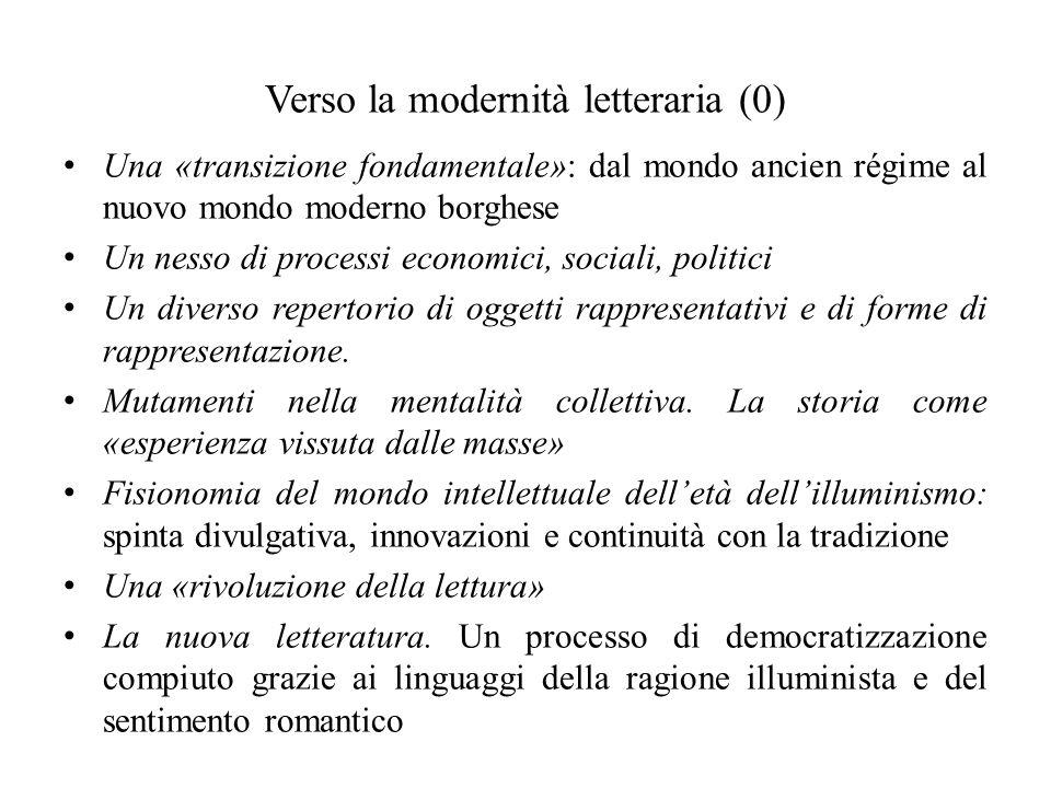 Verso la modernità letteraria (0)