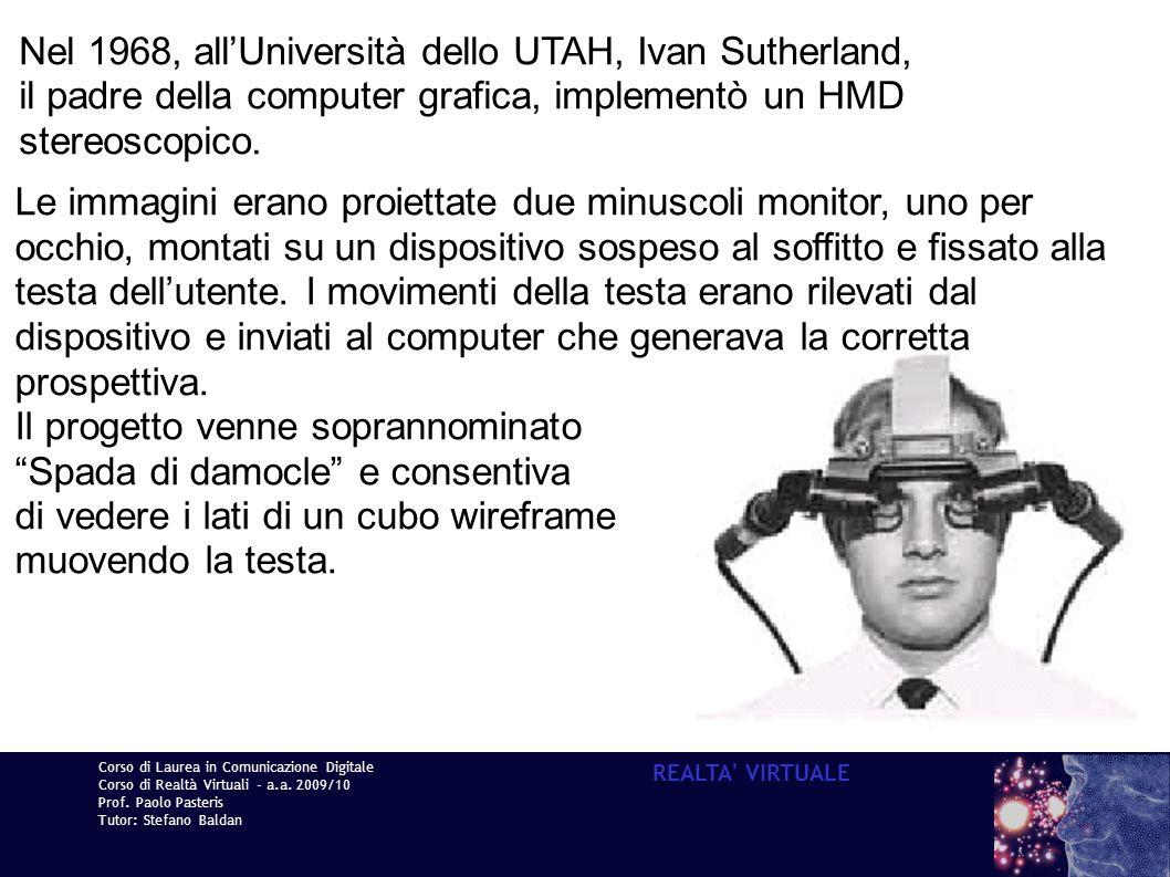 Nel 1968, all'Università dello UTAH, Ivan Sutherland,