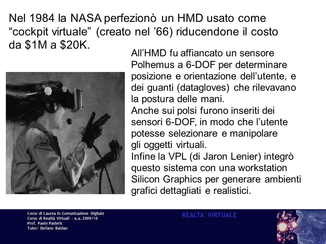 Nel 1984 la NASA perfezionò un HMD usato come