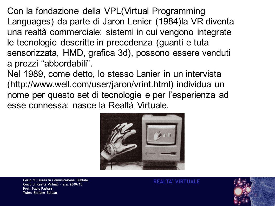 Con la fondazione della VPL(Virtual Programming