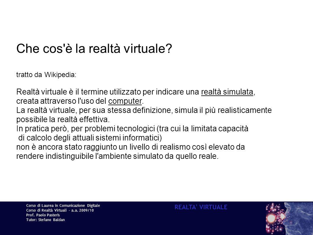 Che cos è la realtà virtuale