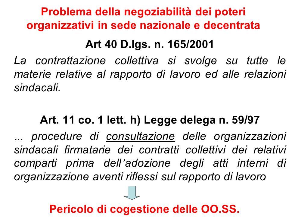 Art. 11 co. 1 lett. h) Legge delega n. 59/97