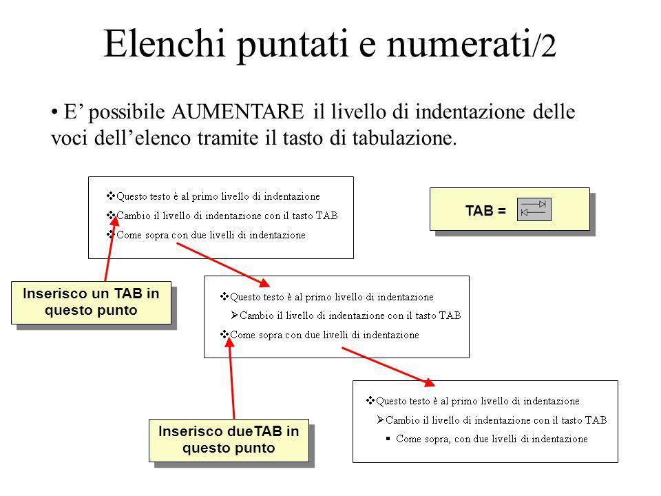 Elenchi puntati e numerati/2