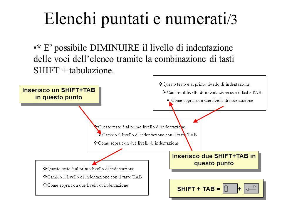 Elenchi puntati e numerati/3