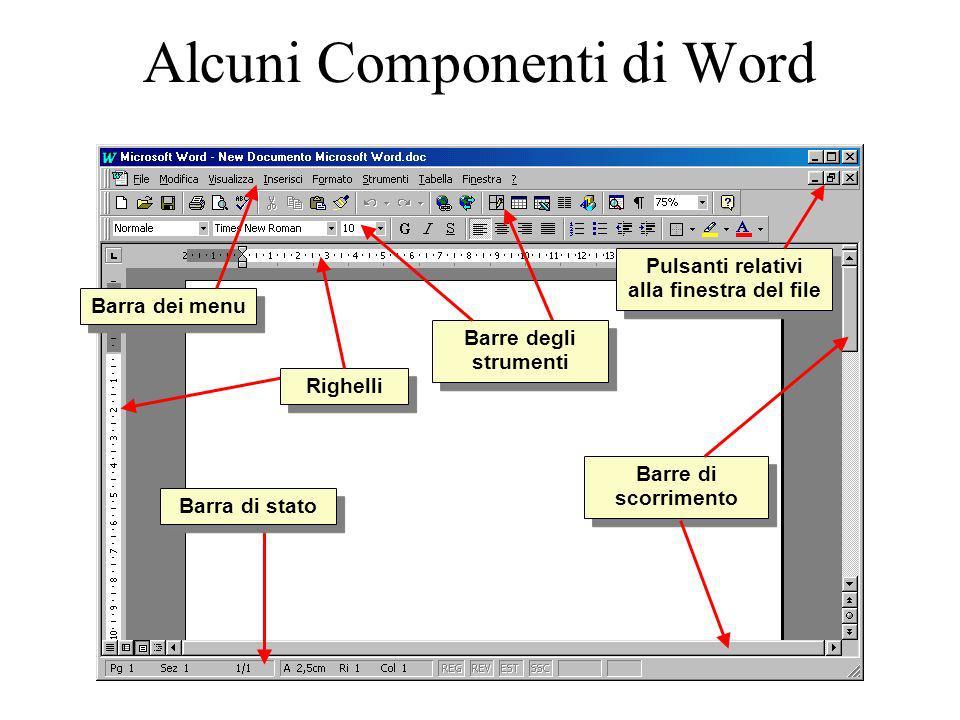 Alcuni Componenti di Word