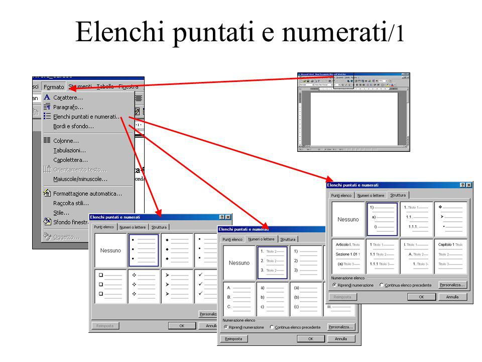 Elenchi puntati e numerati/1