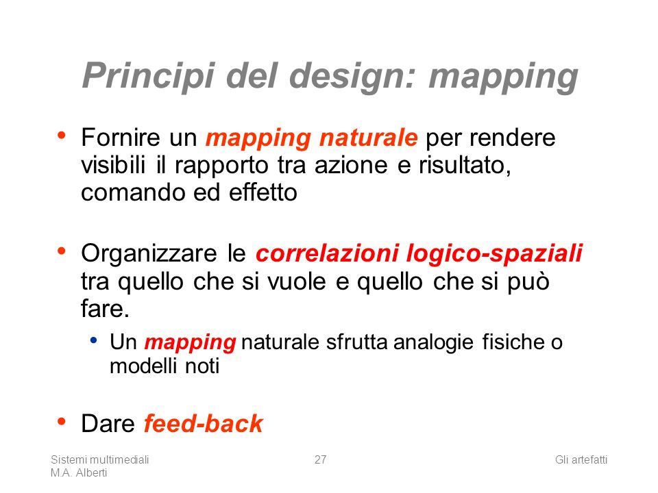 Principi del design: mapping