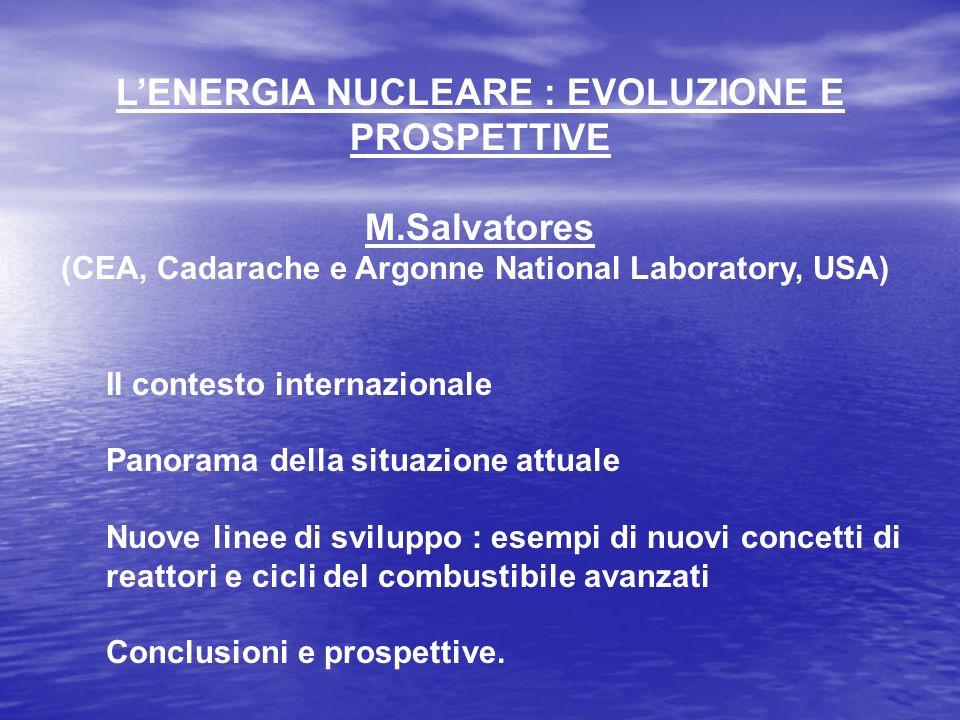 L'ENERGIA NUCLEARE : EVOLUZIONE E PROSPETTIVE