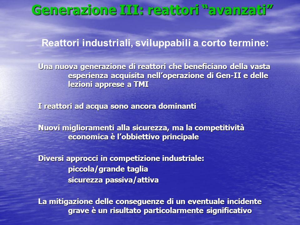 Generazione III: reattori avanzati