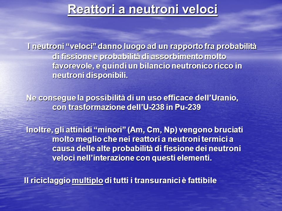 Reattori a neutroni veloci