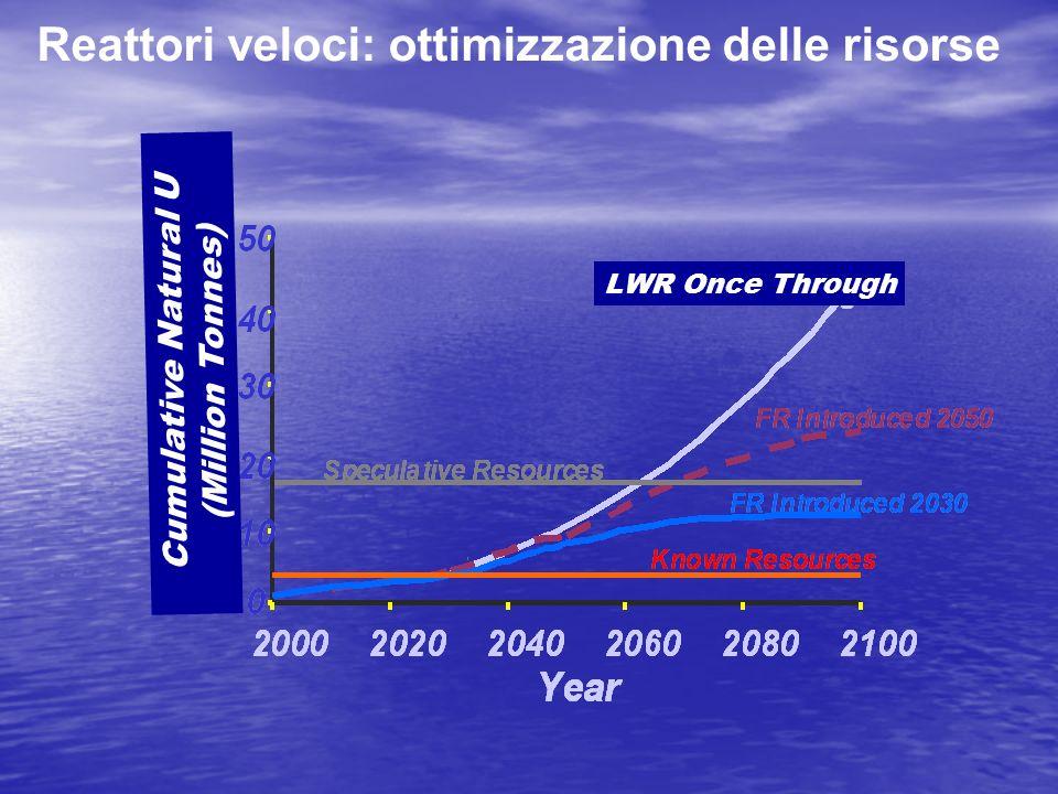Reattori veloci: ottimizzazione delle risorse