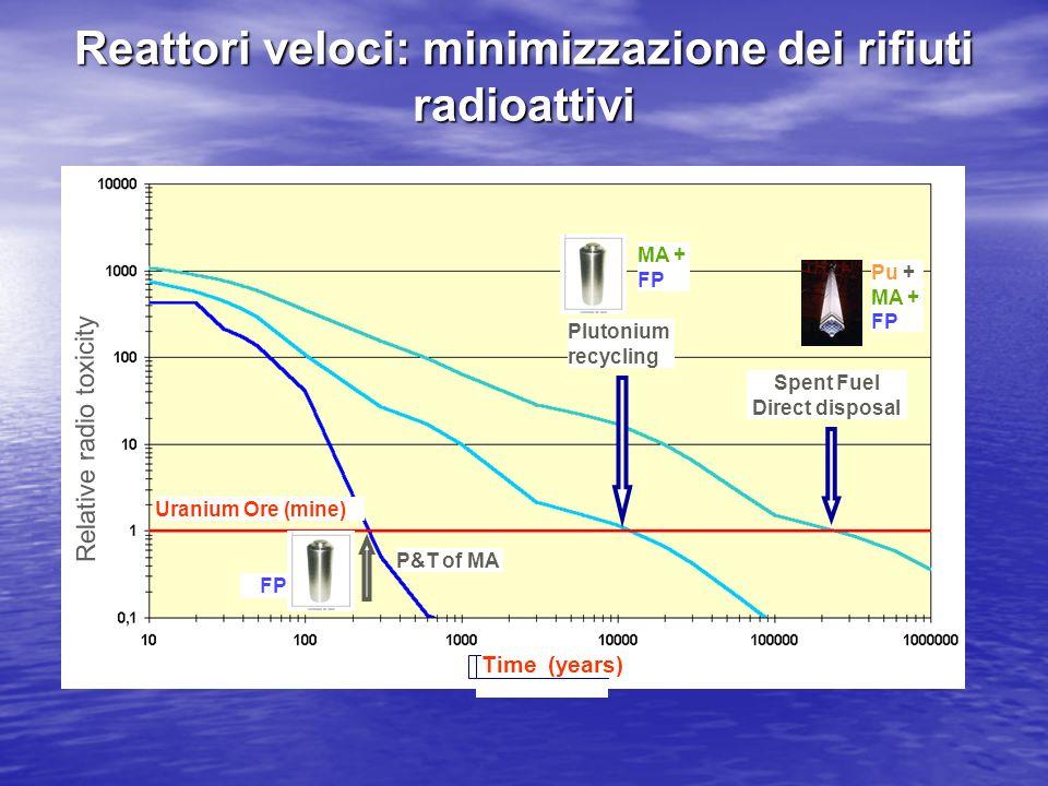 Reattori veloci: minimizzazione dei rifiuti radioattivi