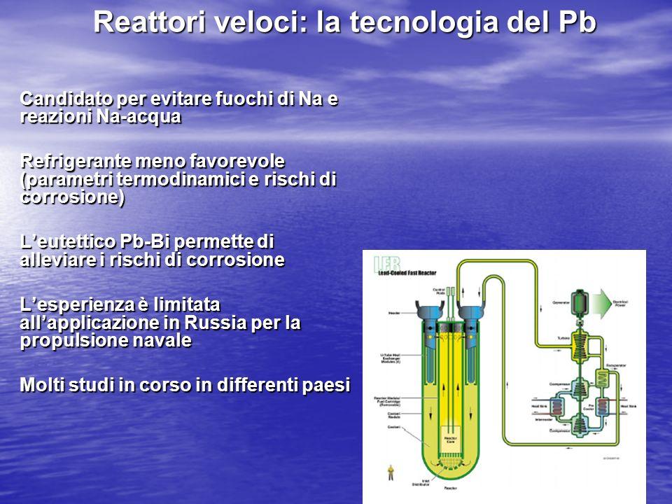 Reattori veloci: la tecnologia del Pb