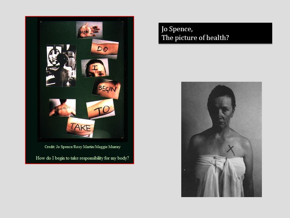 Jo Spence, The picture of health