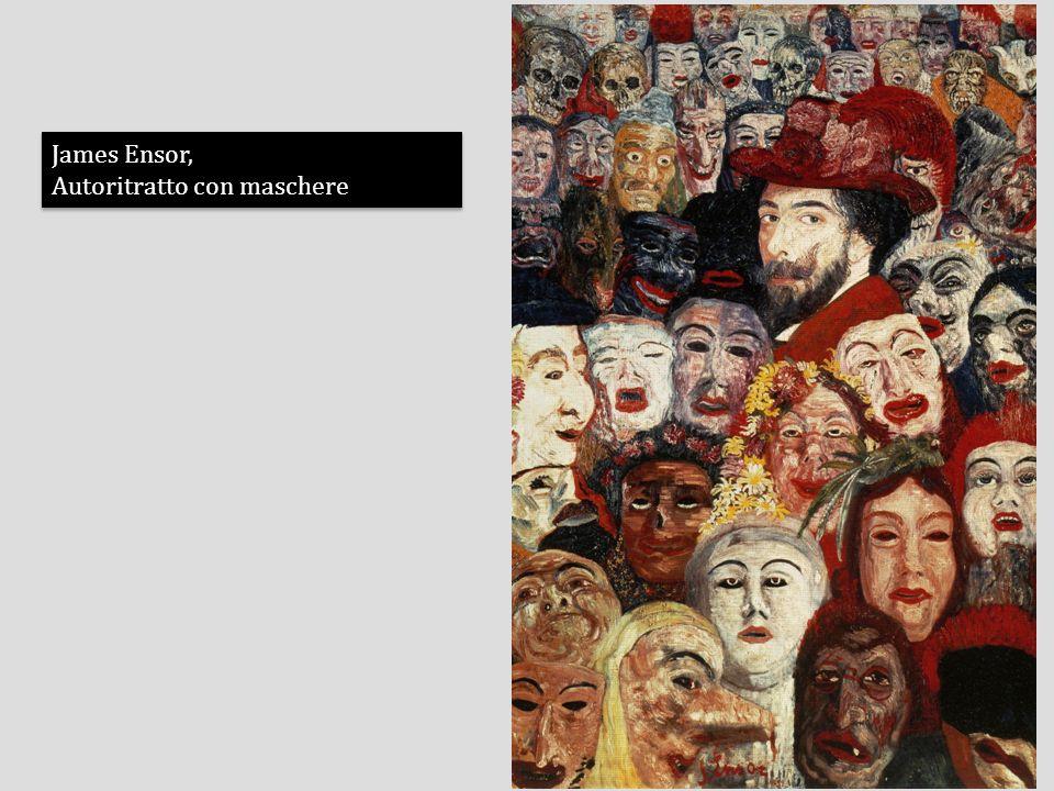 James Ensor, Autoritratto con maschere