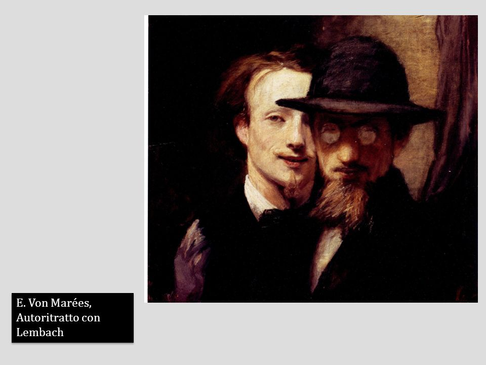 E. Von Marées, Autoritratto con Lembach