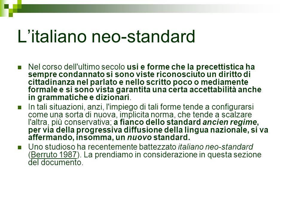 L'italiano neo-standard