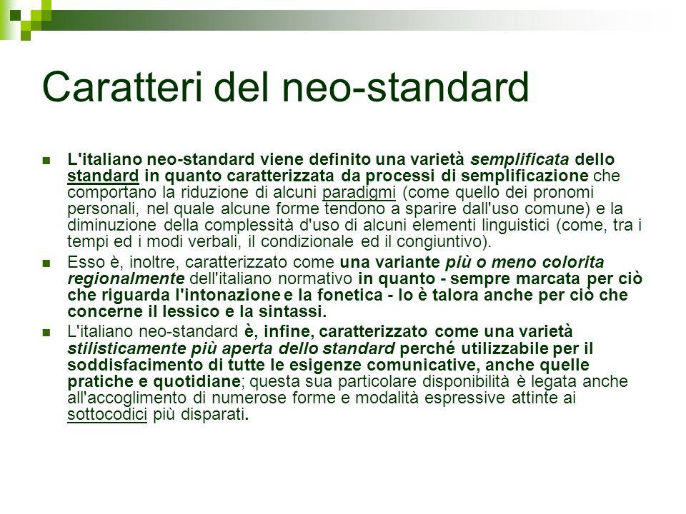 Caratteri del neo-standard