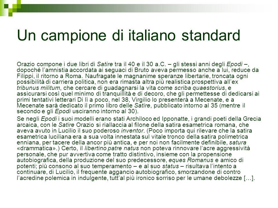 Un campione di italiano standard