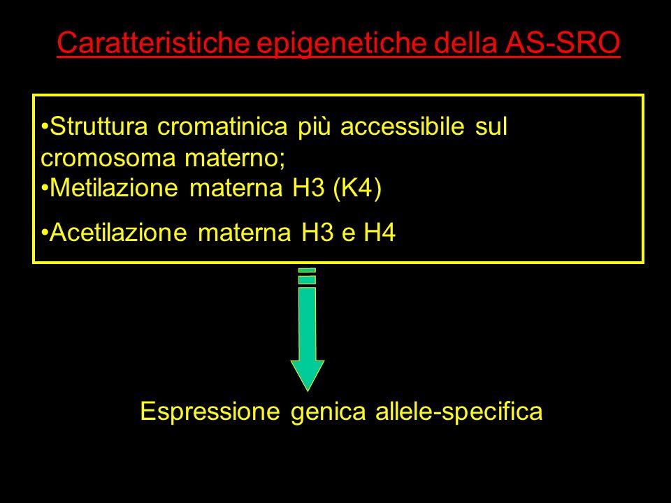 Caratteristiche epigenetiche della AS-SRO