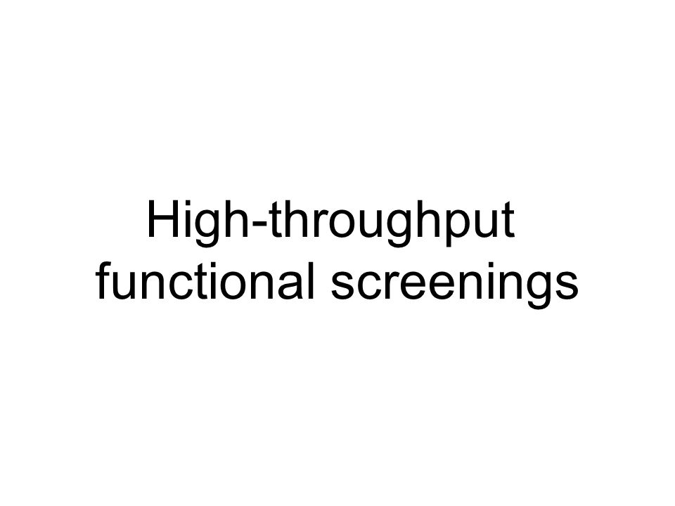 functional screenings
