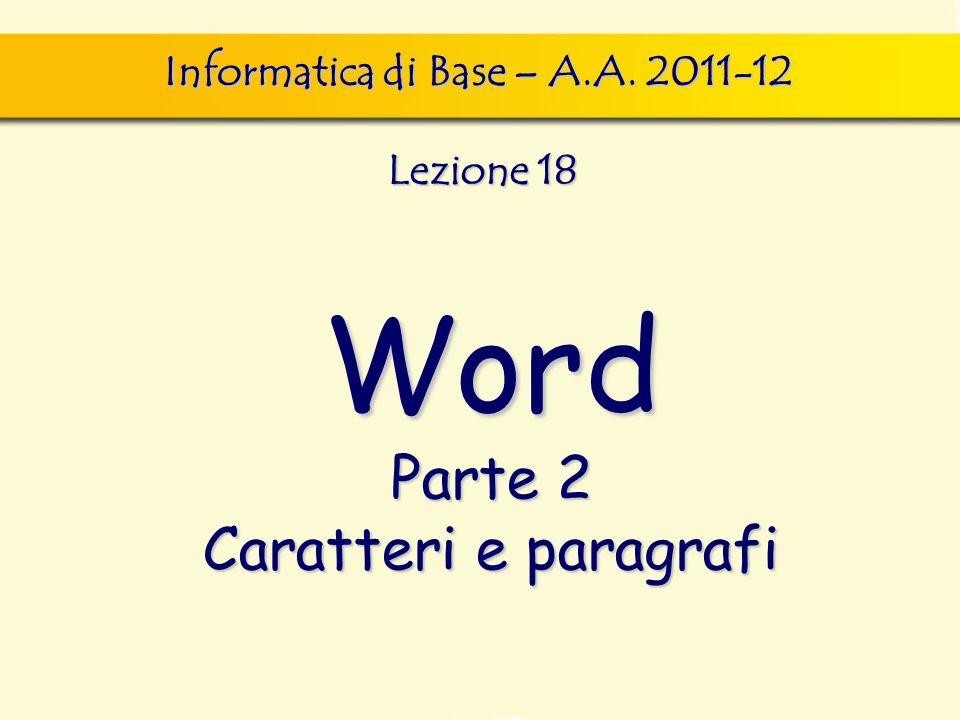 Informatica di Base – A.A. 2011-12