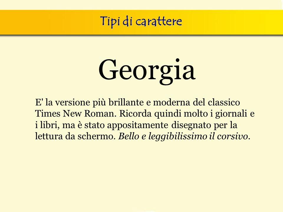 Georgia Tipi di carattere