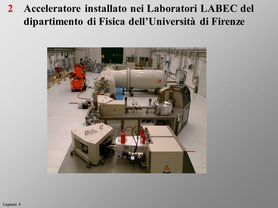 2 Acceleratore installato nei Laboratori LABEC del dipartimento di Fisica dell'Università di Firenze.