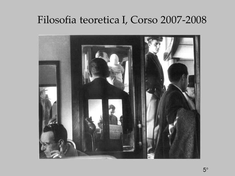 Filosofia teoretica I, Corso 2007-2008