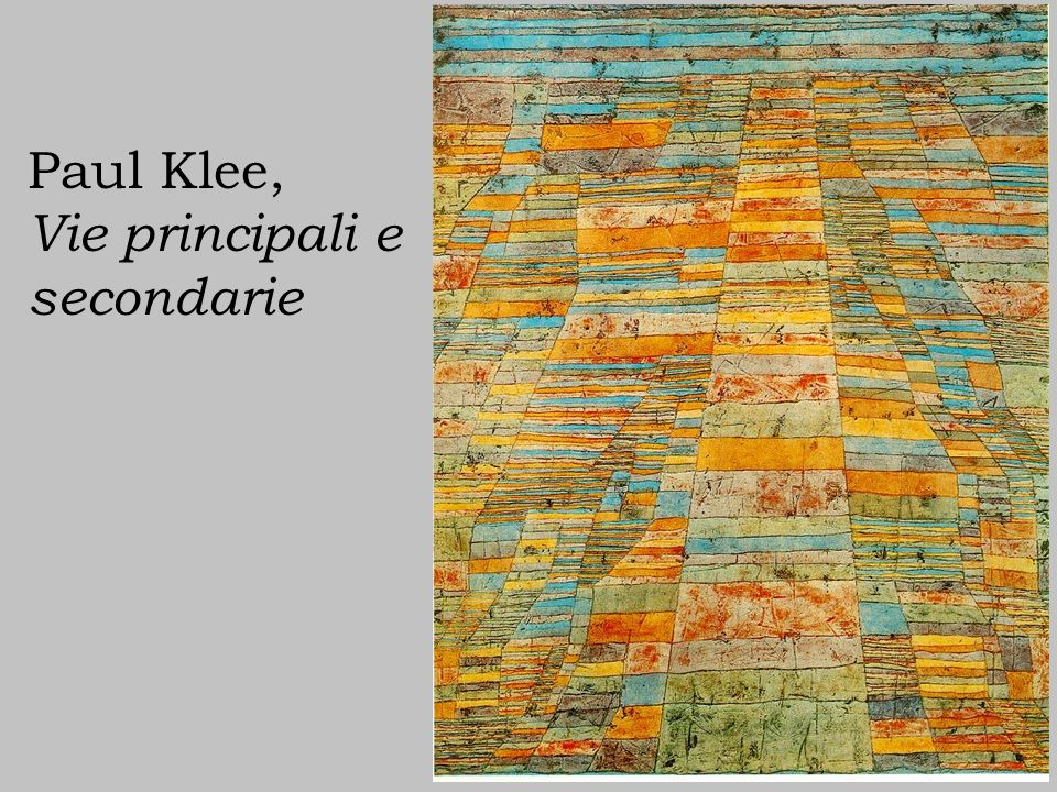 Paul Klee, Vie principali e secondarie