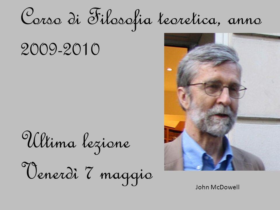 Corso di Filosofia teoretica, anno 2009-2010