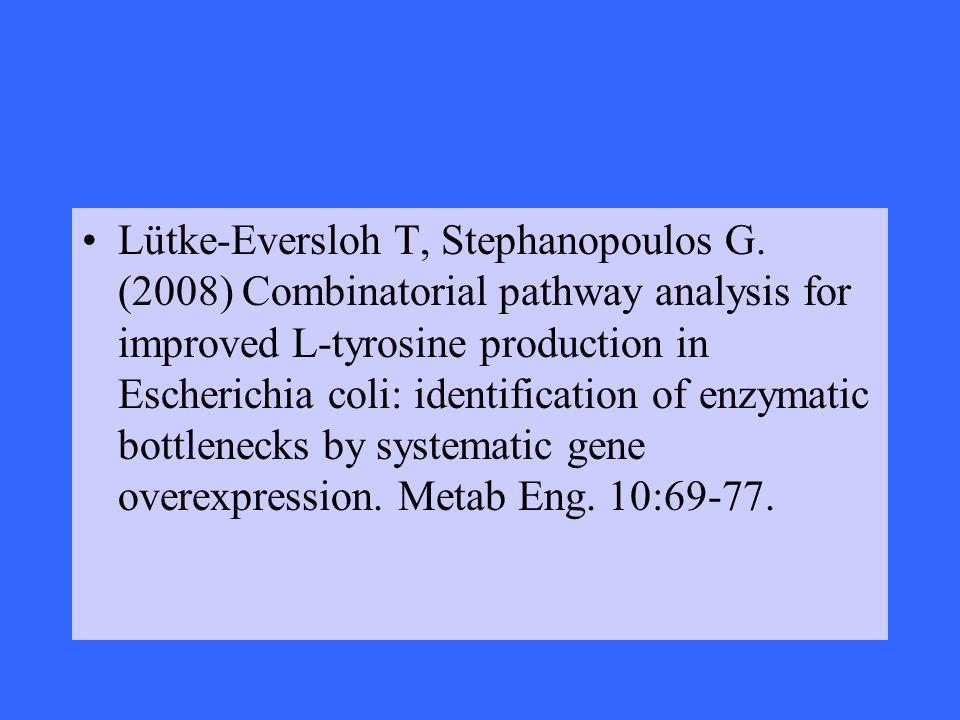 Lütke-Eversloh T, Stephanopoulos G