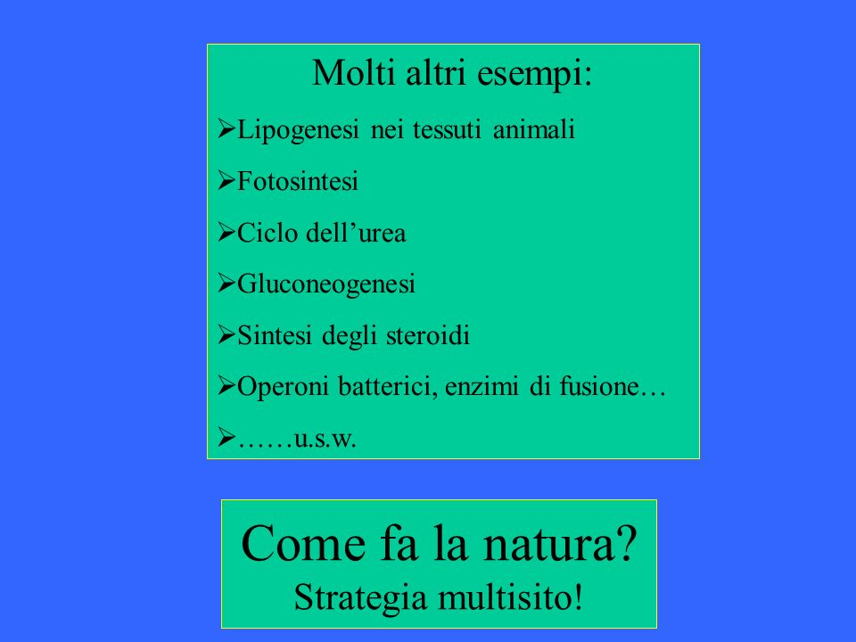 Come fa la natura Strategia multisito!