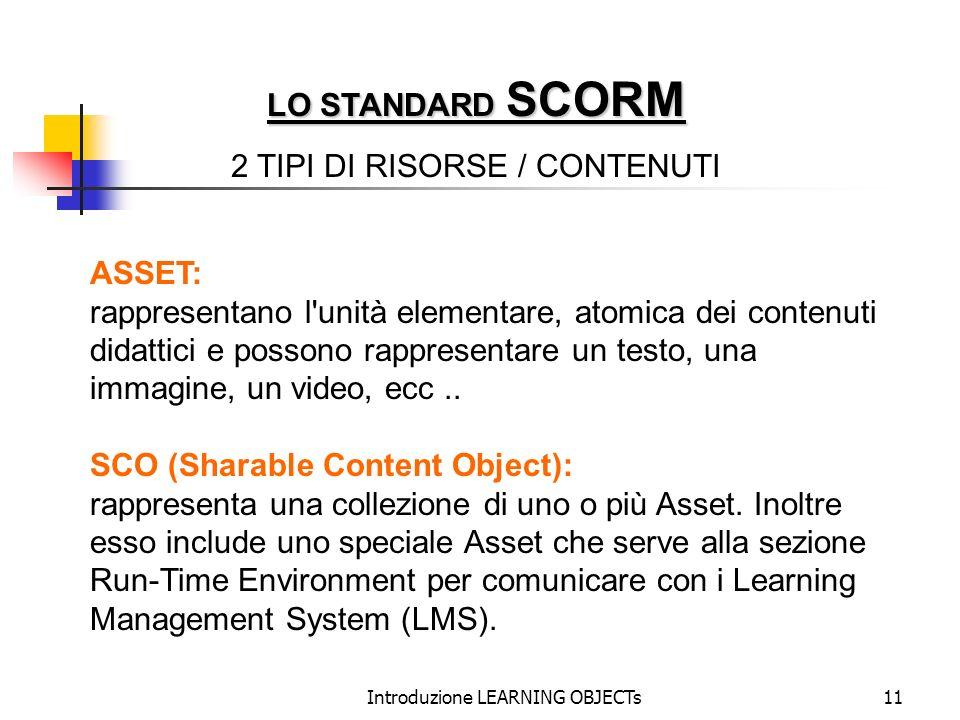 2 TIPI DI RISORSE / CONTENUTI