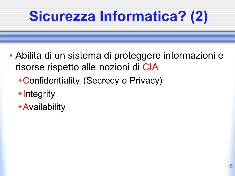 Sicurezza Informatica (2)