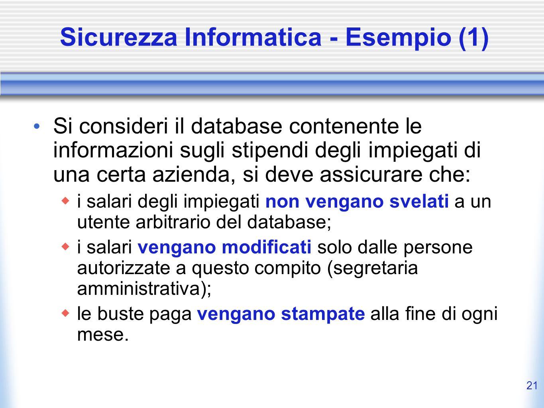 Sicurezza Informatica - Esempio (1)