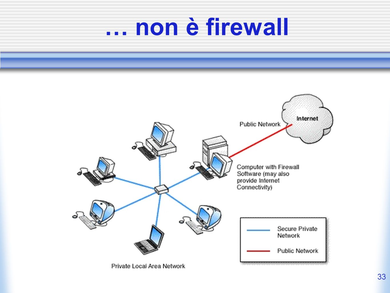 … non è firewall