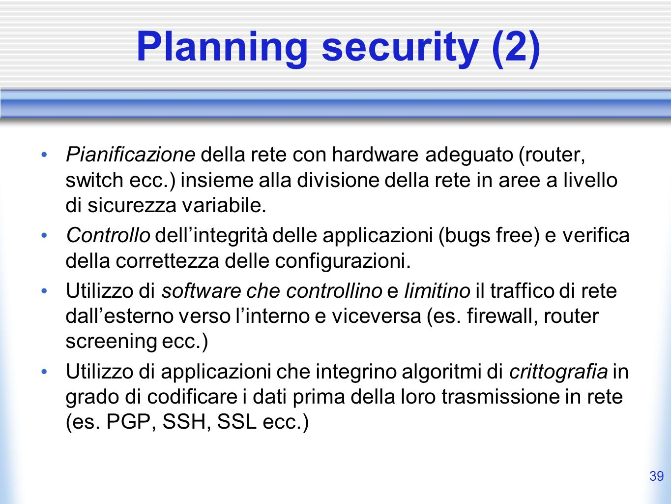 Planning security (2)