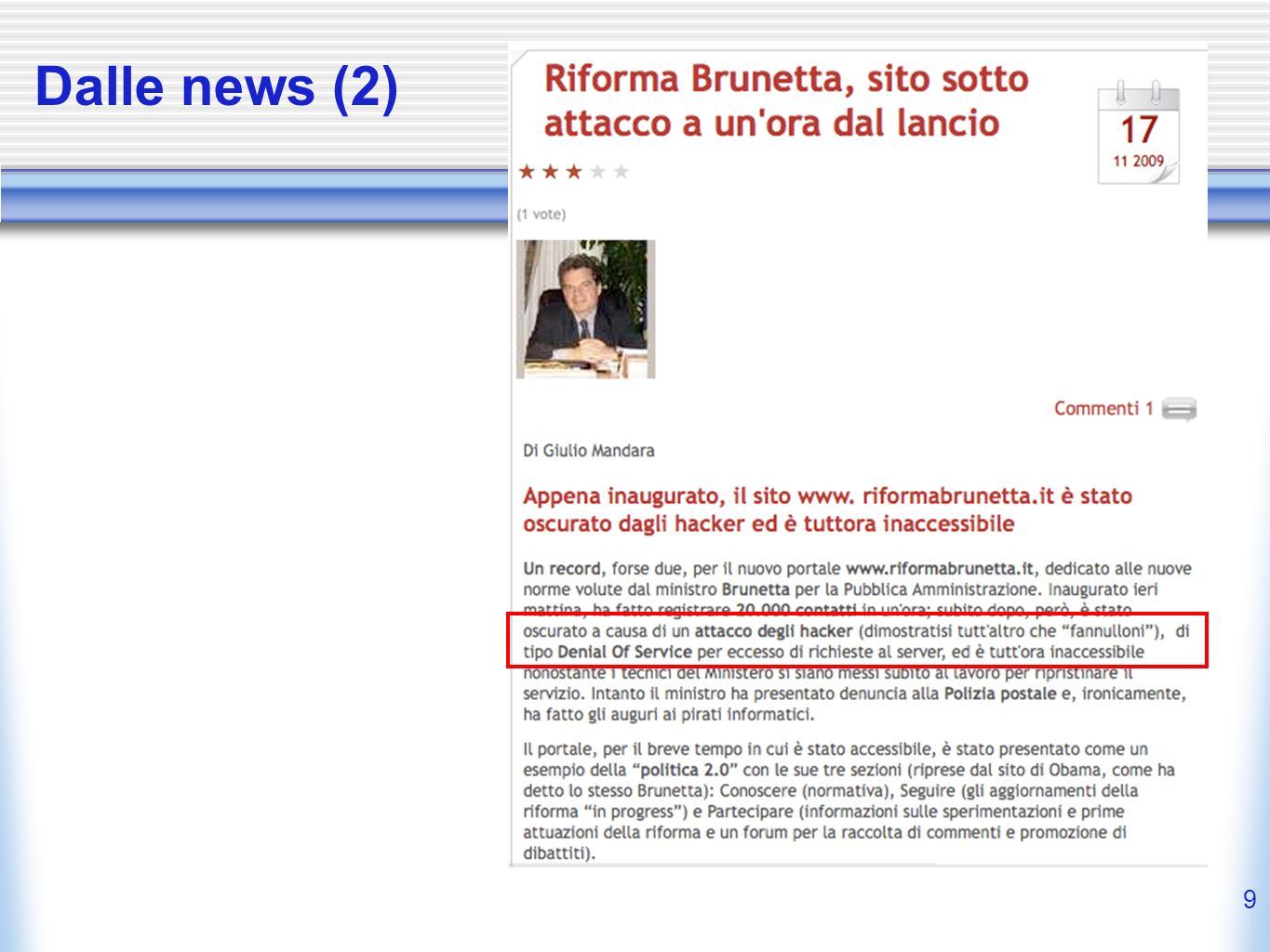Dalle news (2)