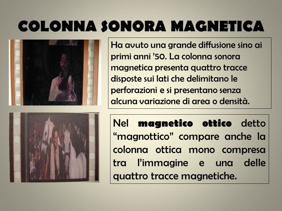 COLONNA SONORA MAGNETICA