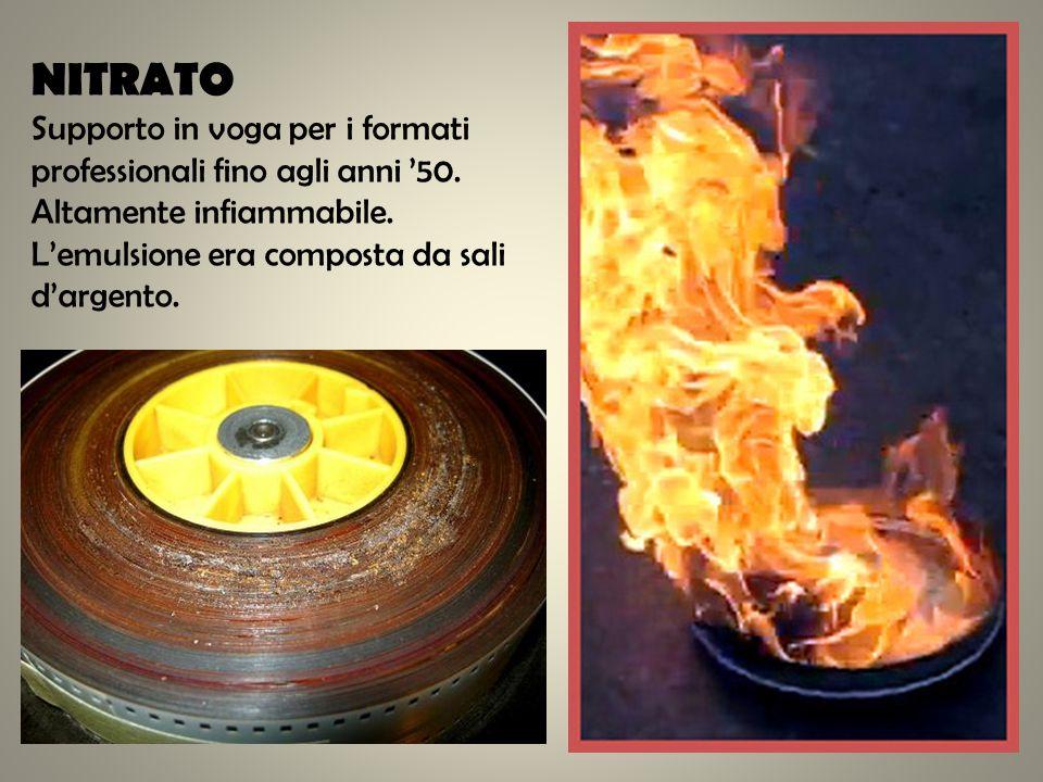 NITRATO Supporto in voga per i formati professionali fino agli anni '50.