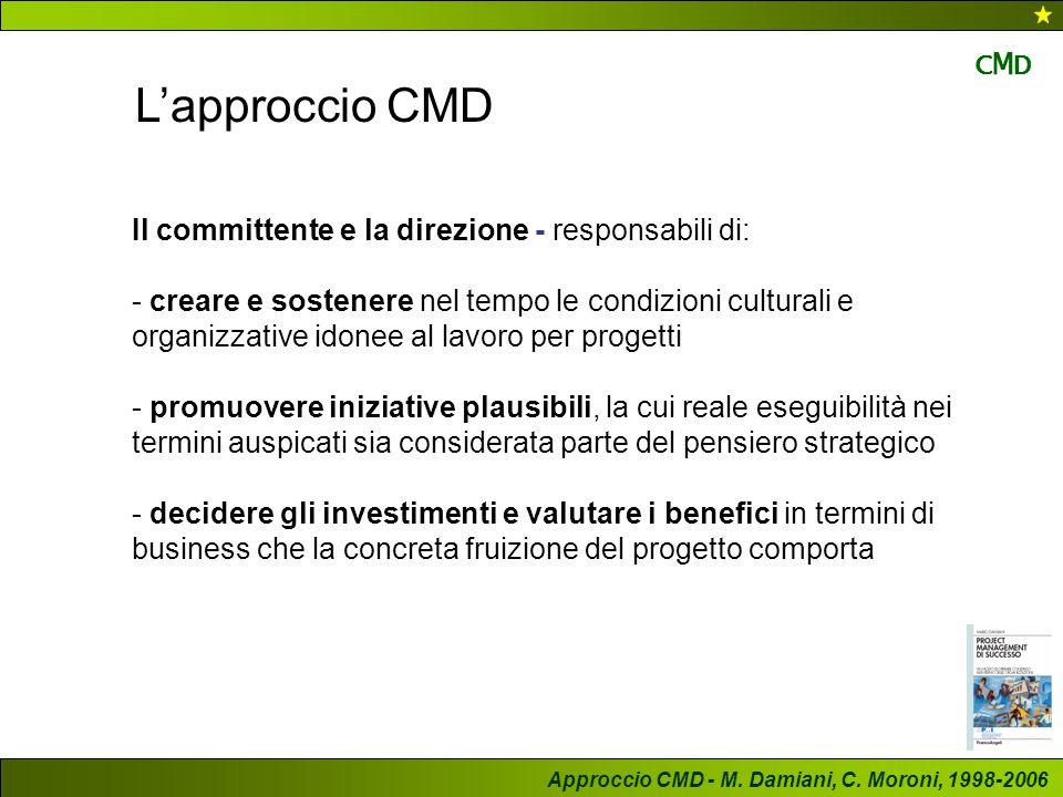 L'approccio CMD CMD Il committente e la direzione - responsabili di:
