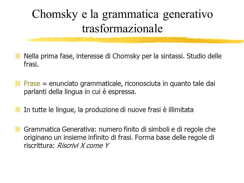 Chomsky e la grammatica generativo trasformazionale