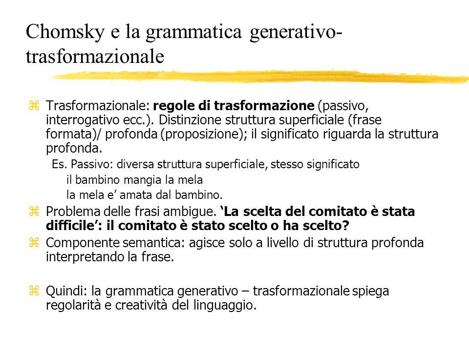 Chomsky e la grammatica generativo-trasformazionale