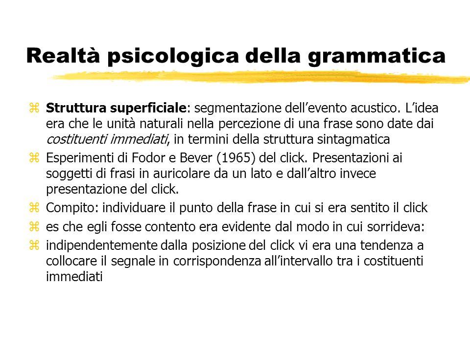 Realtà psicologica della grammatica