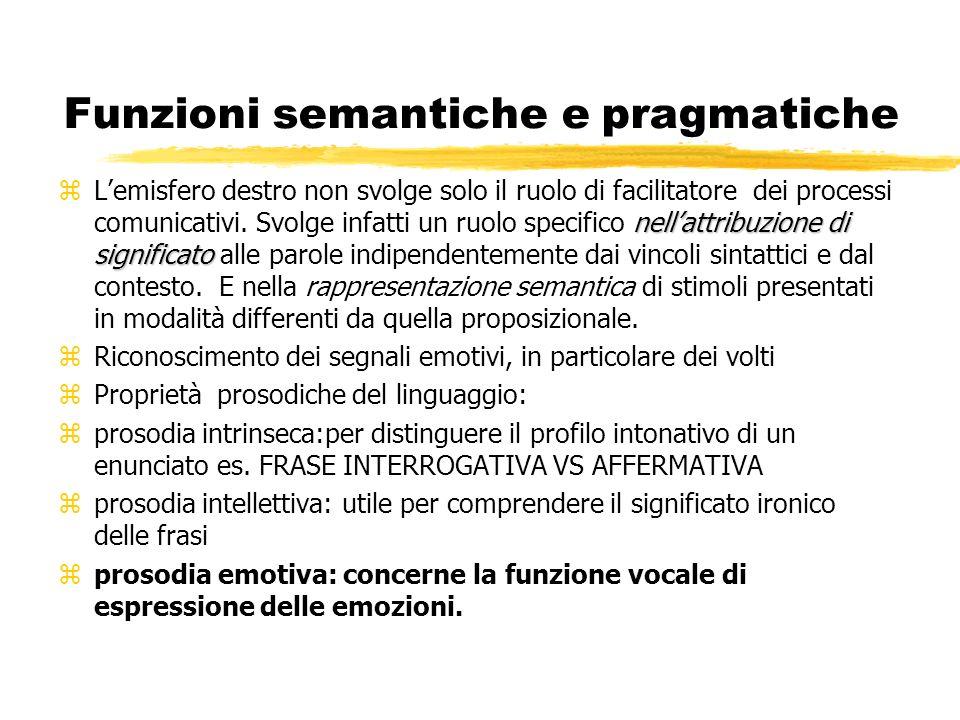 Funzioni semantiche e pragmatiche