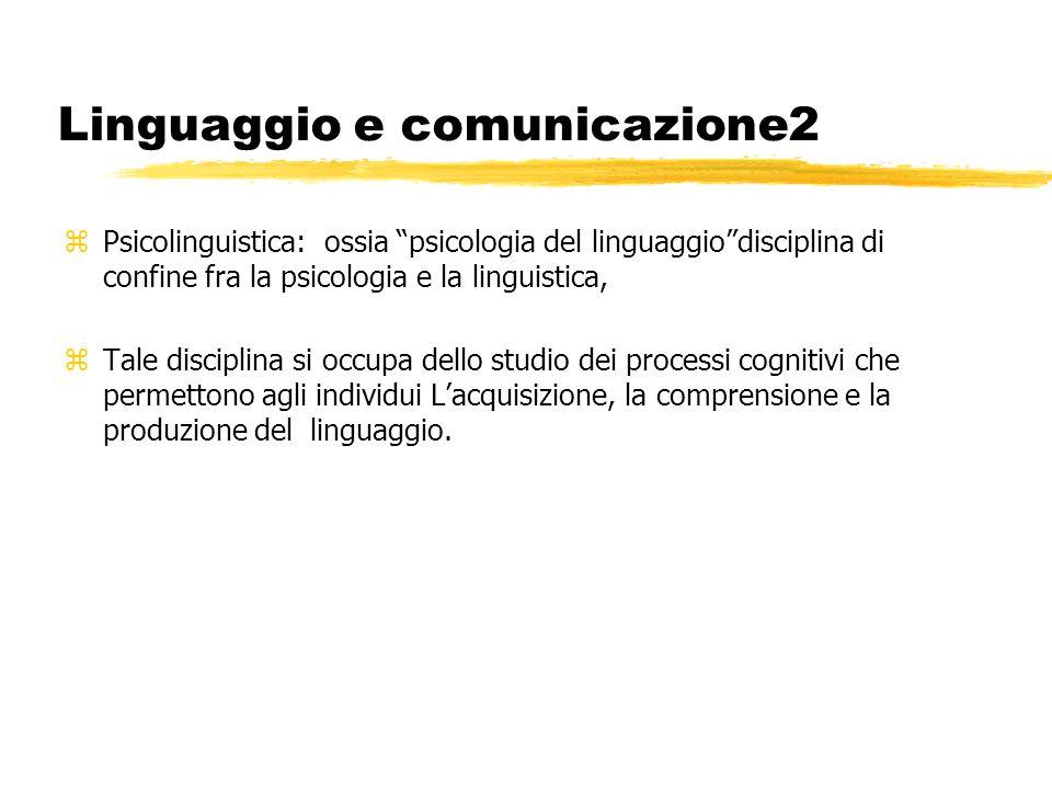 Linguaggio e comunicazione2